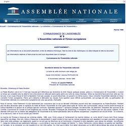 Connaissance de l'Assemblée : L'assemblée et les relations européenne