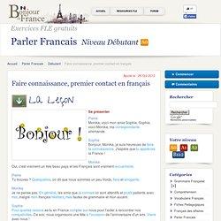 Bonjour de France ! Apprendre le français