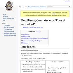 Modélisme/Connaissance/Piles et accus/Li-Po — Ordinoscope.net