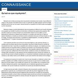 Myokymie - Qu'est-ce que c'est ? - Connaissance - stansstuff.com