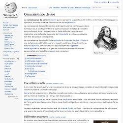 Connaissance de soi/ Wikipedia