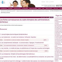 Les fiches connaissances du cadre d'emplois des administrateurs territoriaux (vitrine.Les fiches connaissances du cadre d'emplois des administrateurs territoriaux) - CNFPT