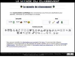 Connaissances & classifications du Monde du Classement