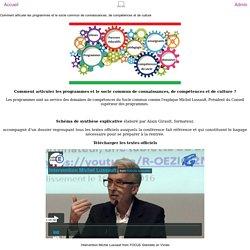 Comment articuler les programmes et le socle commun de connaissances, de compétences et de culture
