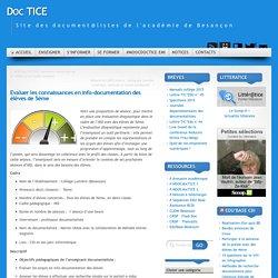 Evaluer les connaissances en info-documentation des élèves de 5ème