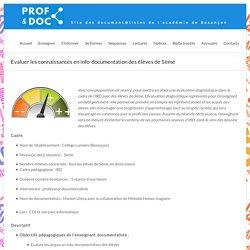 Evaluer les connaissances en info-documentation des élèves de 5ème – DocTICE