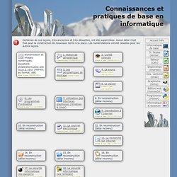 Connaissances et pratiques de base en informatique