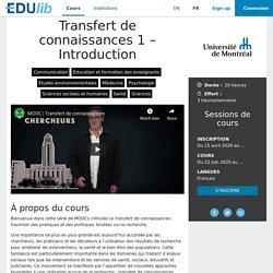 Transfert de connaissances 1 – Introduction