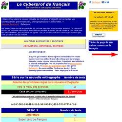 Cyberprof teste vos connaissances linguistiques et littéraires.