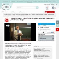 Connaissances et pensée mathématiques : les bases cérébrales de l'intuition numérique - Université de tous les savoirs