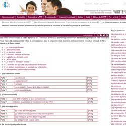 Fiches connaissances - examens rédacteur principal de 1ère classe et 2ème classe