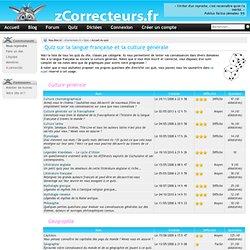 Quiz - Testez vos connaissances en français et progressez avec nos quiz !