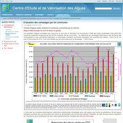 Evaluation des ramassages par les communes / Marées Vertes en Chiffres / Connaissances Scientifiques / MAREES VERTES / Home