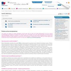 Points sur les connaissances / Santé mentale / Maladies chroniques et traumatismes
