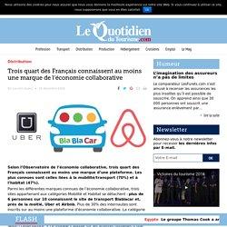 Trois quart des Français connaissent au moins une marque de l'économie collaborative – Le Quotidien du Tourisme