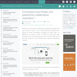 Podio, gestion projet : plateforme collaborative