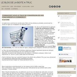 Connaissez vous le taux de conversion de vos concurrents e-commerce ?