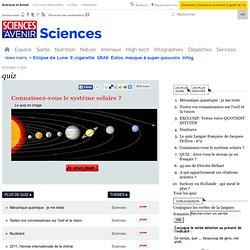 quizz : le système solaire ?