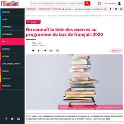 On connaît la liste des œuvres au programme du bac de français 2020