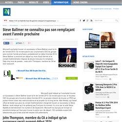 Steve Ballmer ne connaîtra pas son remplaçant avant l'année prochaine