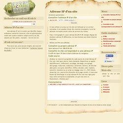 Connaitre l'adresse IP d'un site