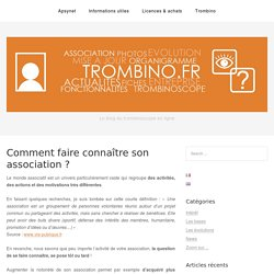 Comment faire connaître son association ?