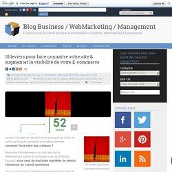 18 leviers pour faire connaitre votre site & augmenter la visibilité de votre E-commerce