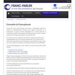 Connaître la Francophonie
