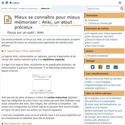Mieux se connaître pour mieux mémoriser : Anki, un atout précieux - Lettres