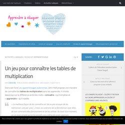 Un jeu pour connaître les tables de multiplication