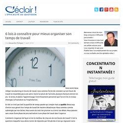 Article - les lois de la gestion du temps