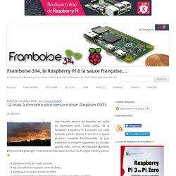 14 trucs à connaître pour personnaliser Raspbian PIXEL - Framboise 314, le Raspberry Pi à la sauce française....