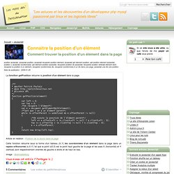 Connaitre la position d'un élément - Javascript