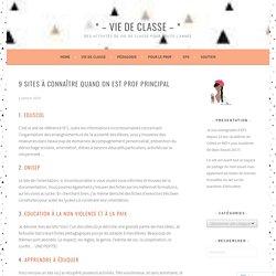 9 sites à connaître quand on est Prof Principal – *VIE DE CLASSE*