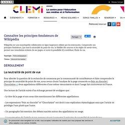 Connaître les principes fondateurs de Wikipédia- CLEMI