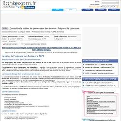 CRPE - Connaître le métier de professeur des écoles - Préparer le concours - Bankexam.fr