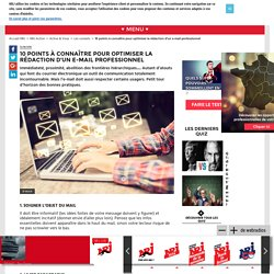 10 points à connaître pour optimiser la rédaction d'un e-mail professionnel - Nrj-active.fr