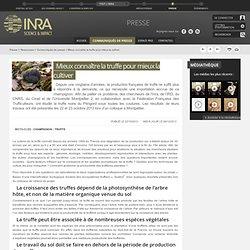 INRA 06/12/13 Mieux connaître la truffe pour mieux la cultiver