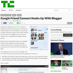 Google Friend Connect Hooks Up With Blogger