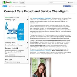 Connect Care Broadband Service Chandigarh