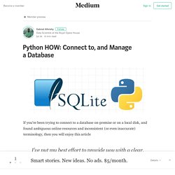 Python HOW: Connect to, and Manage a Database – Gabriel Alhrishy