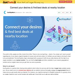 Connect your desires & find best deals at nearby location