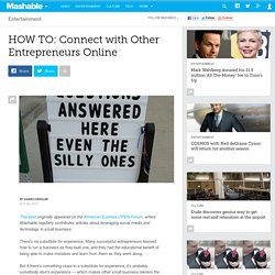 HOW TO: Connect with Other Entrepreneurs Online