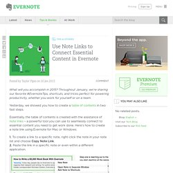 Use Note Links to Connect Essential Content in Evernote