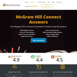 McGraw-Hill Connect Answers For Student's Homework