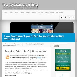 How to connect your iPad to your Interactive Whiteboard