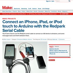 Connect an iPhone, iPad, or iPod touch to Arduino with the Redpark Serial Cable