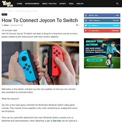 Connect Joycon To Switch