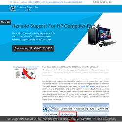 Steps to Connect HP LaserJet 1010 Printer Driver for Window 7