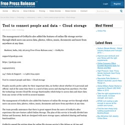 Connect people News: Tool to connect people and data – Cloud storage